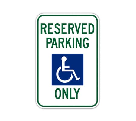 parking lot sign reserved